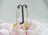 ベネチアンガラス珠ワイヤーピアス