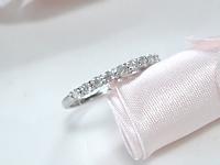 41.メレダイヤが一個落ちてしまった指輪、石の留め直しafter