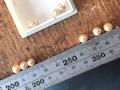 85.パールの残り珠でピアスチャームを作るbefore