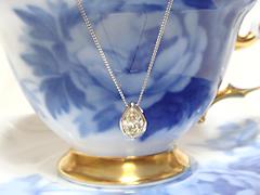 涙型(ペアシェイプカット)ダイヤモンドペンダントafter