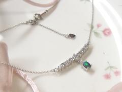 ダイヤモンドとオパールのペンダントafter