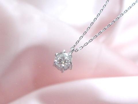 ダイヤモンド一粒ペンダントafter