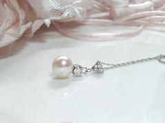 パールとダイヤモンドのペンダントafter