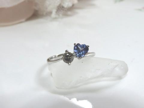 タンザナイト×ダイヤモンドリングafter