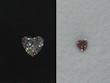 ハートダイヤモンドのペンダント 2ウェイタイプbefore
