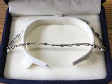 ダイヤモンドとアレキサンドライトの細リングbefore