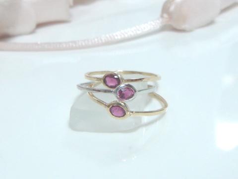 ルビーの指輪(細リング)after