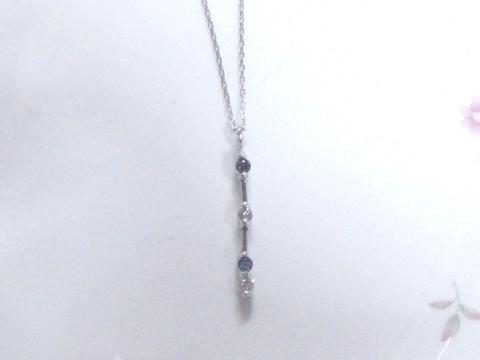 アレキサンドライトとダイヤモンドのペンダントafter