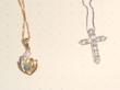 ダイヤモンドとオパールのペンダントbefore