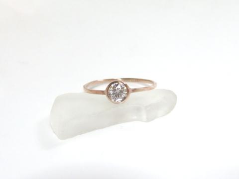 ダイヤモンドの細リングafter