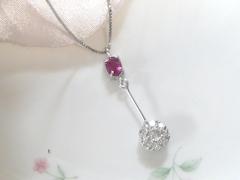 ルビーとダイヤモンドのペンダントafter