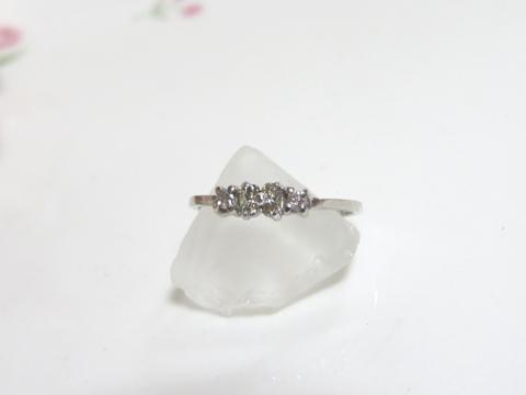 ダイヤモンドお花モチーフリングafter