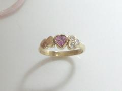 ピンクトルマリンの指輪after