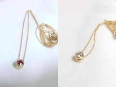 ルビー×ダイヤモンドのリバーシブルペンダントafter