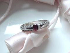 ルビーの指輪after