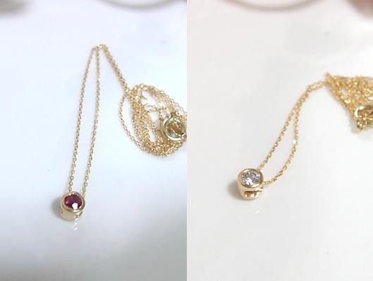 ルビー×ダイヤモンドのリバーシブルペンダント