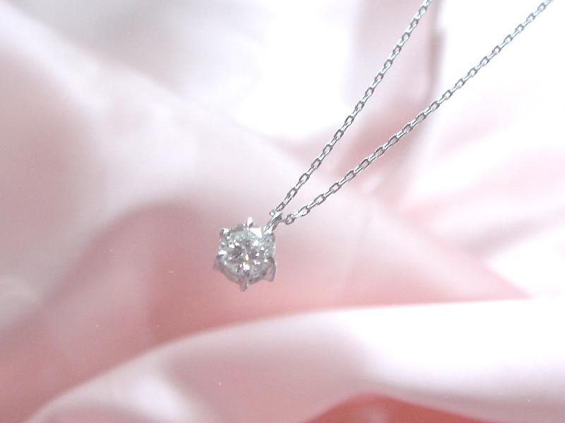 ダイヤモンド一粒ペンダント