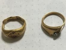 甲丸リング ゴールドの指輪before