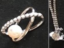 パールとダイヤモンドのオープンリングリフォーム前画像