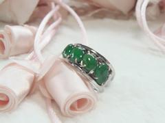 ヒスイの指輪after