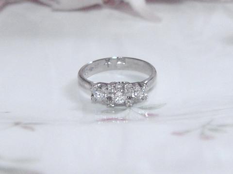 ダイヤモンドのリングafter