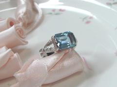 アクアマリンの指輪after