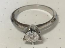 ダイヤモンド一粒ペンダントリフォーム前画像
