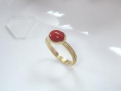珊瑚の指輪after