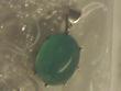 緑石のペンダントbefore