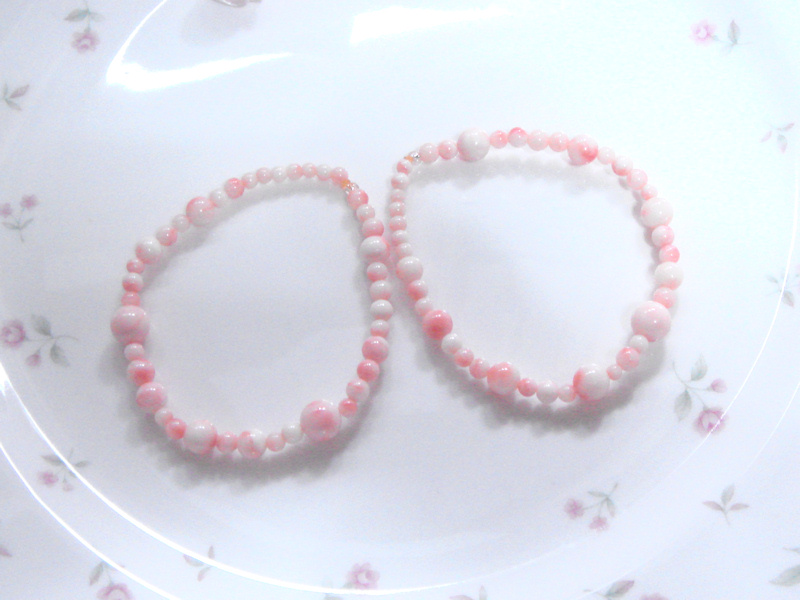 珊瑚のブレスレット