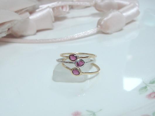 ルビーの指輪(細リング)
