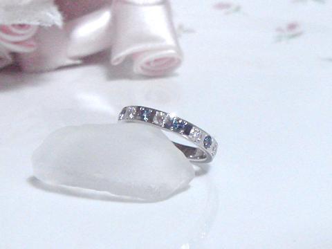 アレキサンドライトとダイヤモンドのリングafter