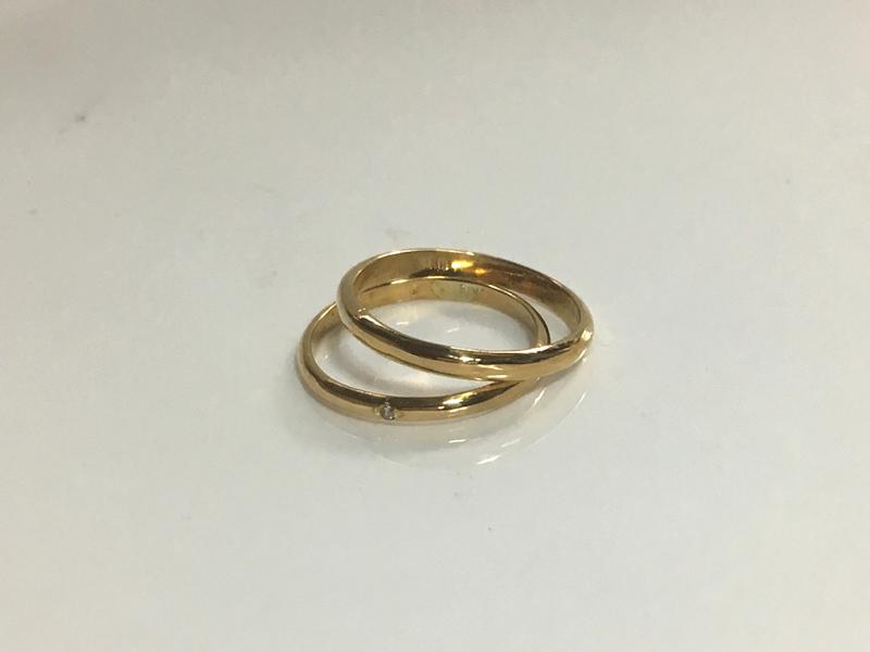 甲丸リング ゴールドの指輪