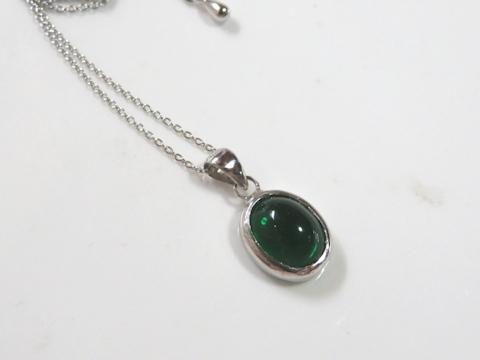 緑色石ペンダントafter