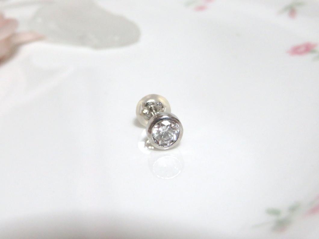 ダイヤモンドピアス(片耳)