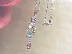 色々な宝石を使用したペンダントafter