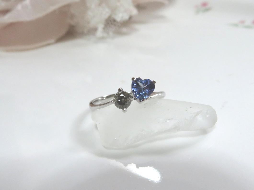 タンザナイト×ダイヤモンドリング